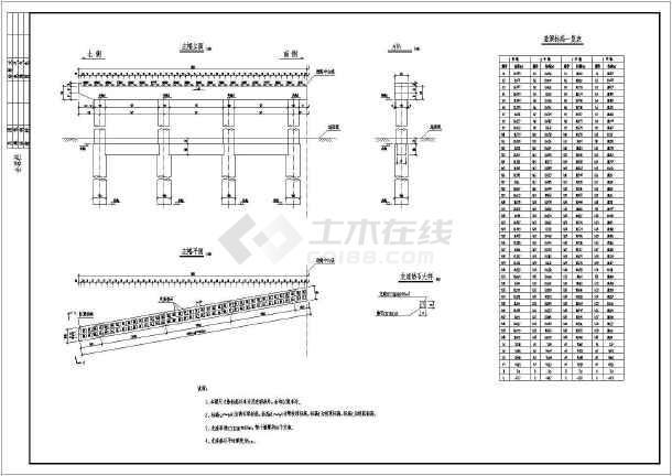 5x20m预应力空心板结构跨河桥设计图-图一