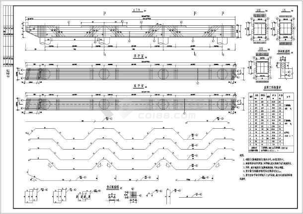 5x20m预应力空心板结构跨河桥设计图-图二