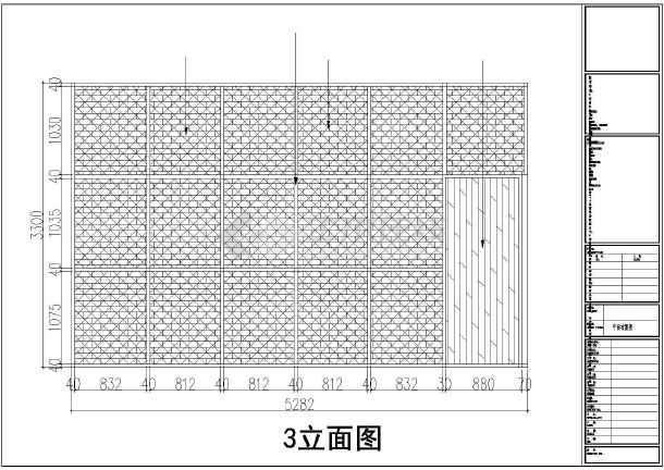 某二层咖啡店装饰装修CAD施工图-图二