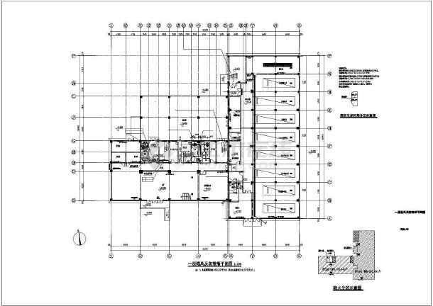 点击查看某七层训练楼暖通施工图(通风及防排烟平面图)第1张大图