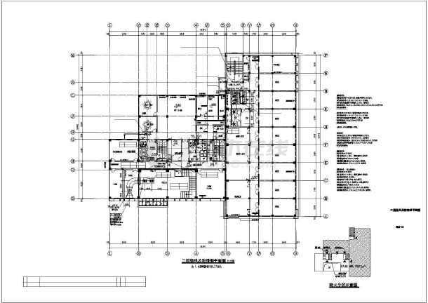 点击查看某七层训练楼暖通施工图(通风及防排烟平面图)第2张大图