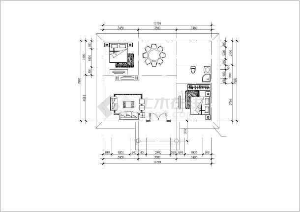 点击查看二层别墅建筑结构水电cad图(28张)第1张大图