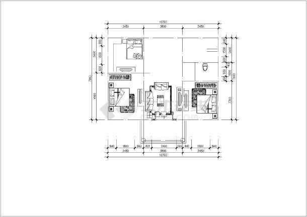 点击查看二层别墅建筑结构水电cad图(28张)第2张大图