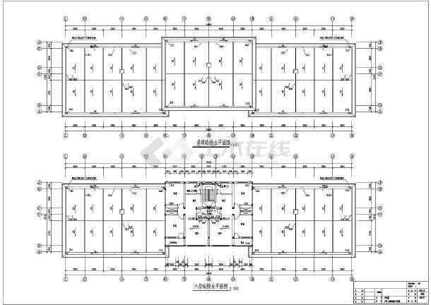某六层单元住宅楼给排水施工设计cad图-图一