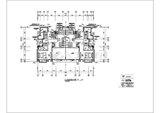 五层别墅给排水全套施工cad图-图二