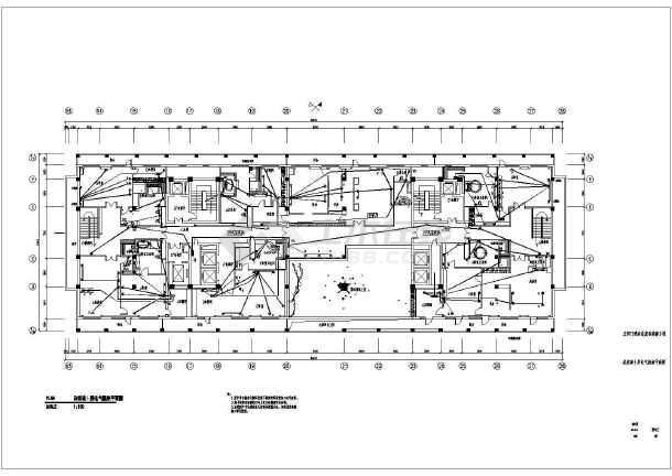 某酒店总统套房装修工程电气部分图纸-图二