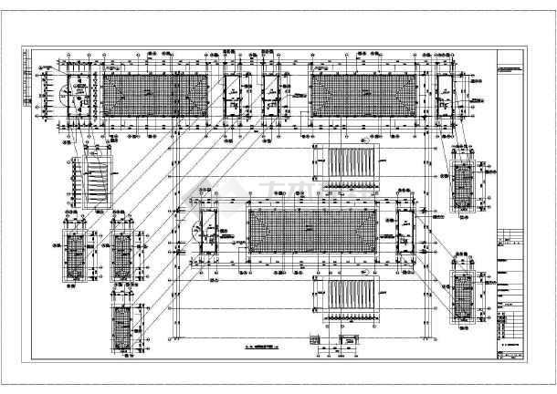 某小学教学楼平面立面设计CAD图-图一
