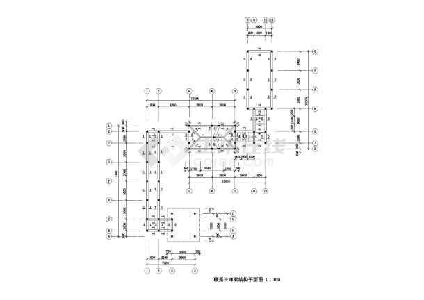 某园林古建长廊设计施工图-图一