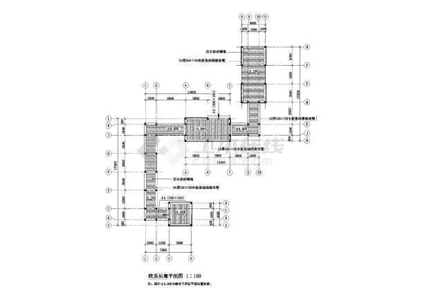 某园林古建长廊设计施工图-图二
