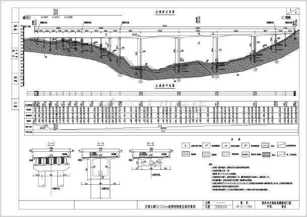 [重庆]82m箱形高墩主跨66+3x120+66三向预应力连续刚钩桥施工图115张(含结构计算书)-图二