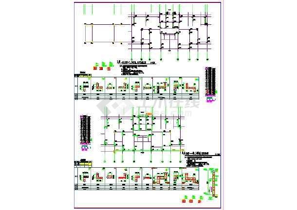 某棚户区安置改造项目结构施工图( 含人防结构)-图一