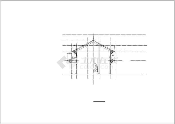 小型寺庙古建结构cad图-图一