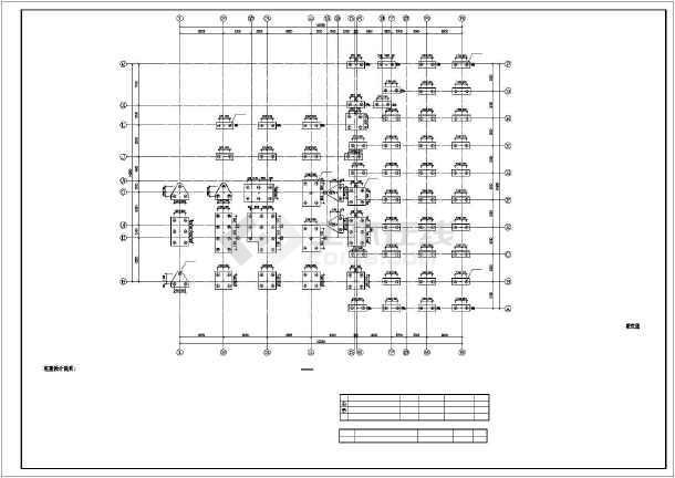 某消防站建筑结构CAD施工图-图一