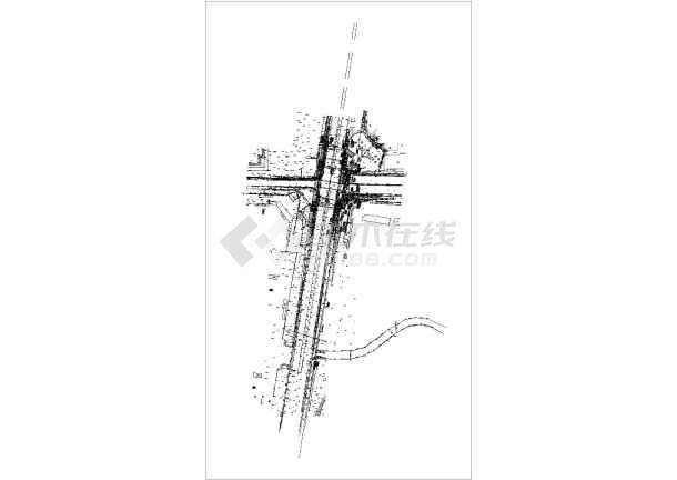 [重庆]12m宽地下人行地下通道工程施工图63张(含电气暖通排水装修)-图二