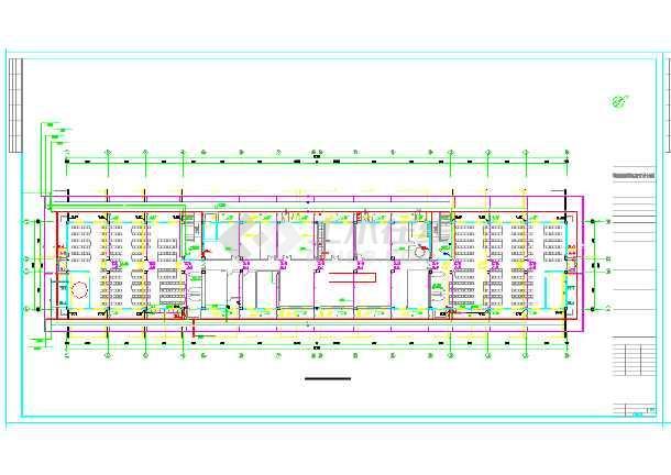 某六层宿舍楼给排水设计施工图(建筑面积6882平方米)-图一