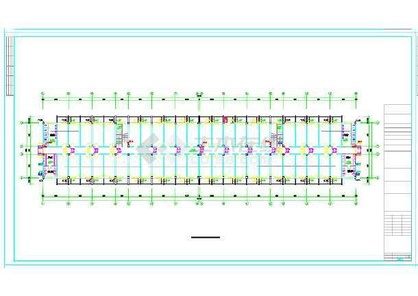 某六层宿舍楼给排水设计施工图(建筑面积6882平方米)-图二
