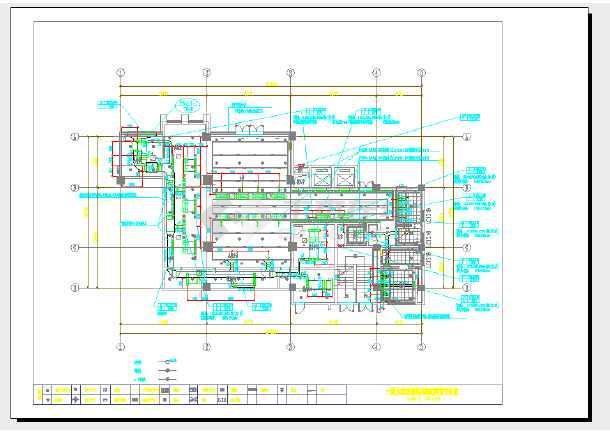 点击查看某公司装修设计暖通施工图第1张大图