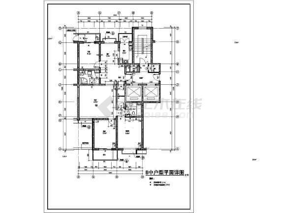 [方案]某高层住宅户型设计cad图-图一