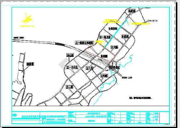 [重庆]路幅宽30米生态工业园道路工程施工图设计91张CAD(含给排水,电气照明)-图一