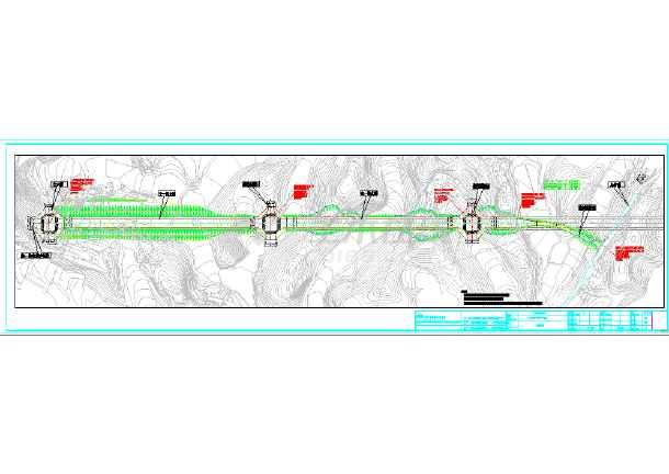 点击查看[重庆]路幅宽30米生态工业园道路工程施工图设计91张CAD(含给排水,电气照明)第2张大图