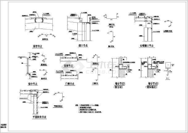 点击查看某钢结构各类节点大样图(共8张图纸)第1张大图