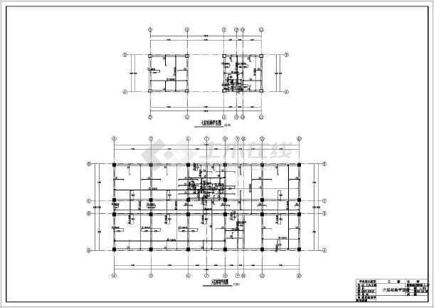 某地上五层框架结构教学楼毕业设计结构图-图一