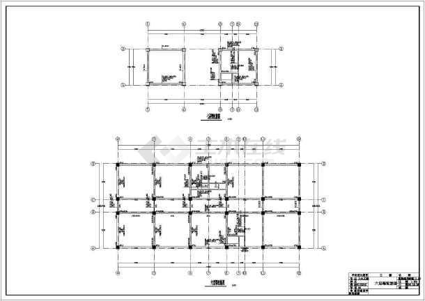 某地上五层框架结构教学楼毕业设计结构图-图二