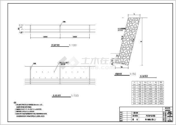 城市环路加气站工程全套施工图(电气挡墙排水)-图二