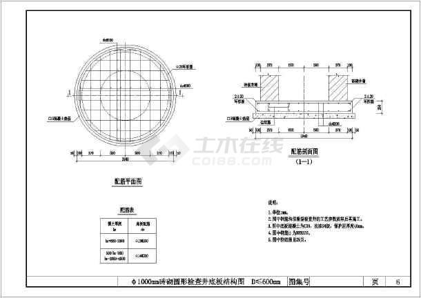 点击查看某检查井标准工艺节点构造详图第2张大图