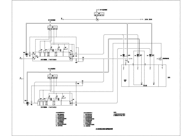 某工程空调自控设计cad图图片1