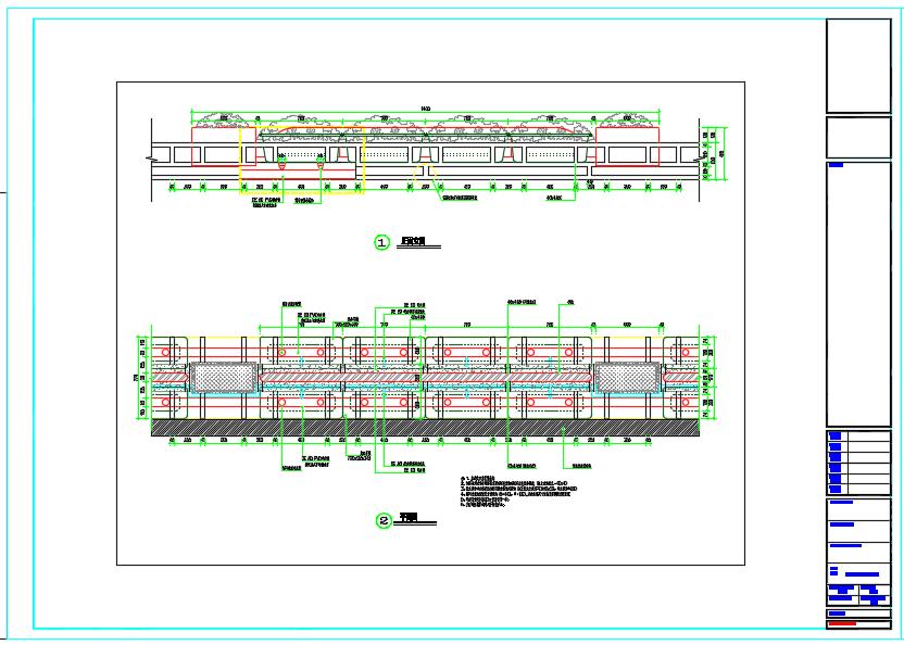 立交桥立体绿化建设工程全套施工图图片1
