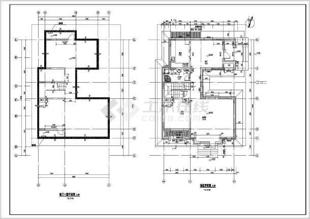 地上三层别墅建筑施工图,地下一层-图一