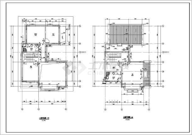地上三层别墅建筑施工图,地下一层-图二