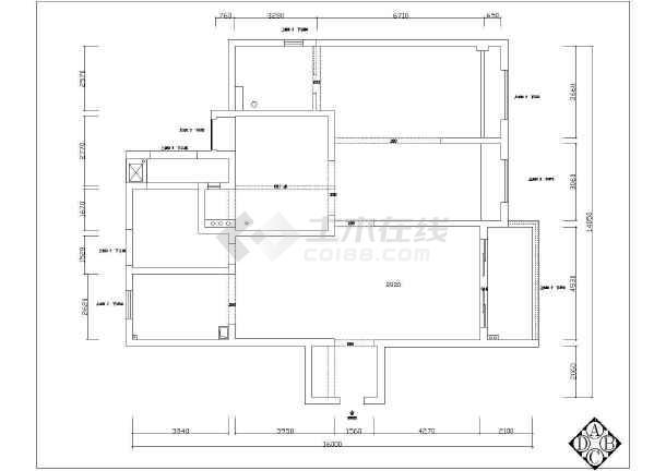 某高层住宅中央空调设计cad图-图一