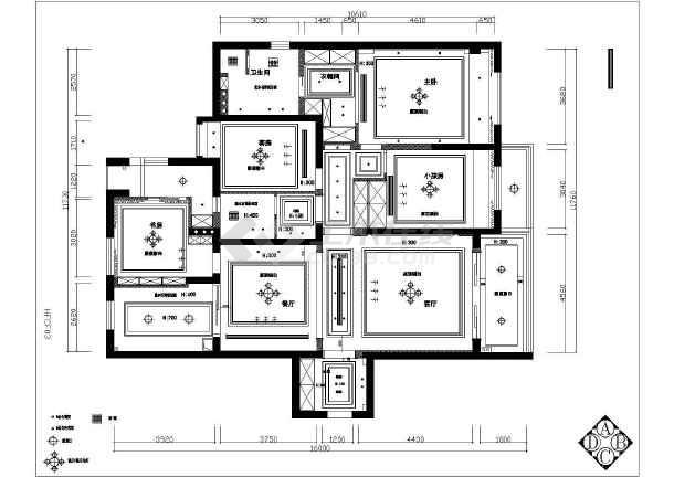 点击查看某高层住宅中央空调设计cad图第2张大图