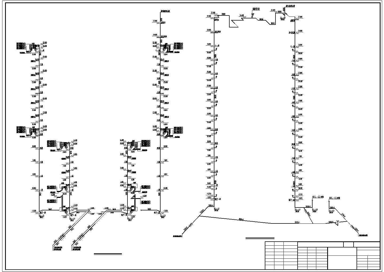 某住宅小区给排水设计cad图图片1