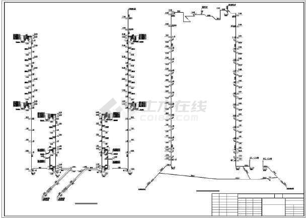 点击查看某住宅小区给排水设计cad图第1张大图