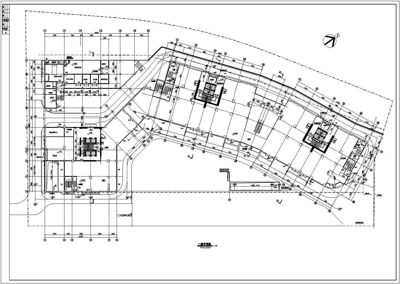 某人防工程设计cad图(地下一层平面图)图片2