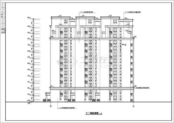 某12层住宅楼建筑施工图(包含5套图纸)-图二