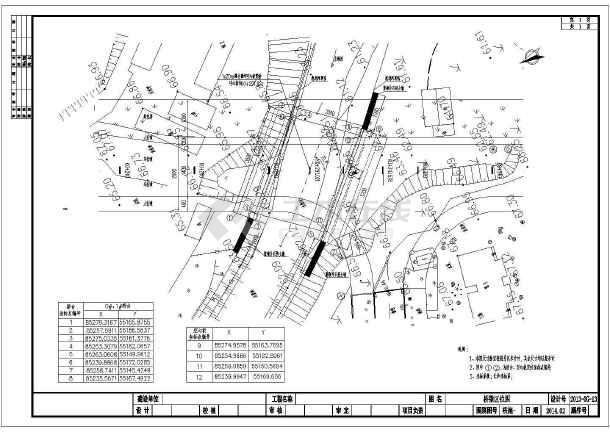 预应力混凝土空心板桥施工图设计CAD(新规范重力式桥台)-图二