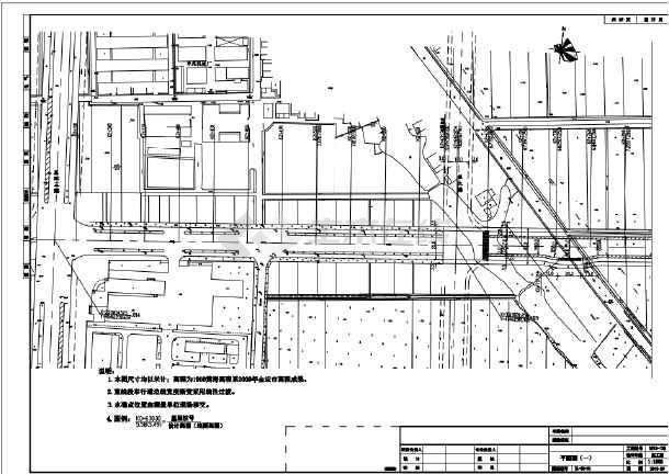 新规范设计城市次干路施工图设计(含路面交叉)-图一