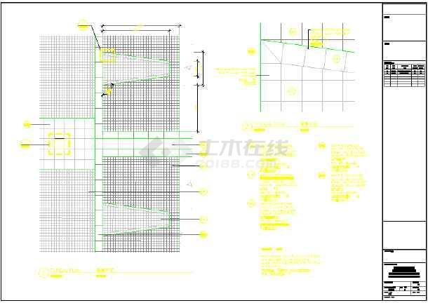 步行街园林景观工程施工图-图二
