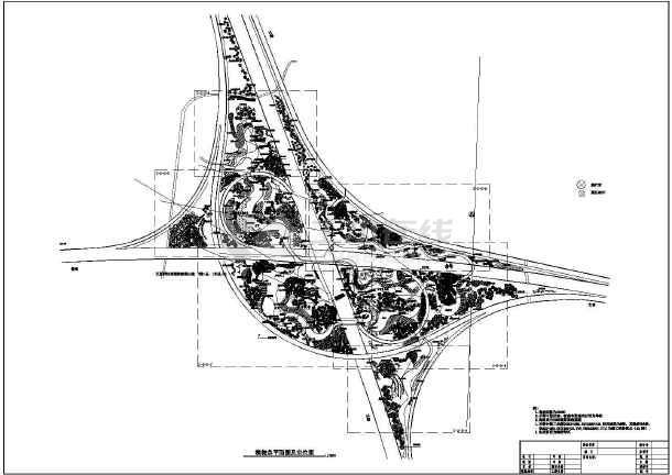 点击查看某高速公路互通景观设计第1张大图