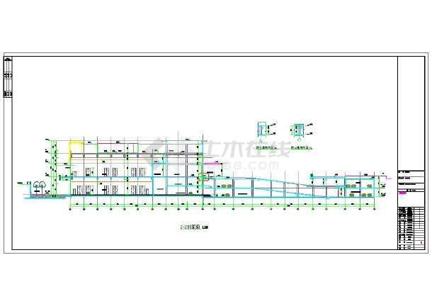 某地上十二层滨海酒店建筑施工图-图二