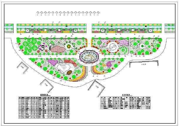 多套住宅小区绿化总平面图 CAD