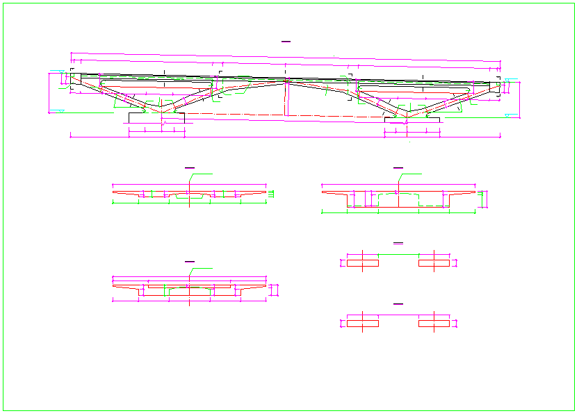 1-24m跨V型桥台刚构拱桥设计图图片2
