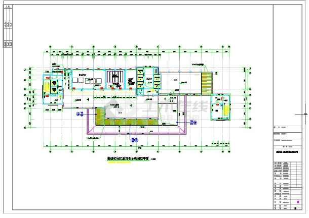 6万平方米国际会议中心建筑施工图-图一