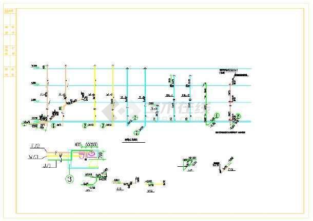 田庆市宝英供电所--给排水图纸-图一