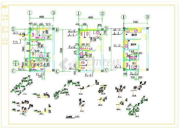 田庆市宝英供电所--给排水图纸-图二