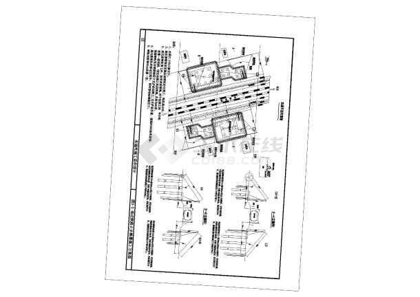 跨铁路转体桥深基坑专项方案(中铁附CAD图)-图一